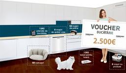 Câștigă un voucher Mobexpert de 2.500 euro, 8 mașini de spălat vase Beko, 58 mașini de făcut pâine Tefal și 1.392 ustensile de bucătărie