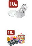 Castiga 10 mixere + platou prajituri si 10 seturi briose