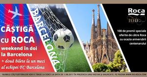Câștigă un weekend în 2 la Barcelona și două bilete la un meci al echipei FC Barcelona, plus alte 100 de premii