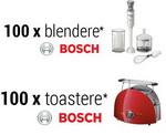 Castiga 100 de blendere Bosch si 100 de toastere Bosch