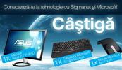 Castiga un monitor Asus, o tastatura Microsoft si un mouse Microsoft