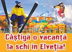 Castiga o vacanta la schi in Elvetia, 42 smartphone HTC Desire X si 420 de seturi tricou + sapca