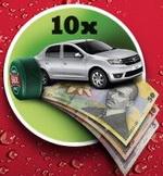 Castiga 10 masini Dacia Logan Laureate, 75.000 de bancnote de 5, 10 sau 50 lei si multa bere Skol