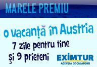 Castiga o excursie de 7 zile la ski in Austria pentru tine si inca 9 persoane sau unul din cele 6 premii saptamanale