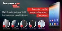 Castiga 5 smartphone Lenovo si 5 casti Lenovo