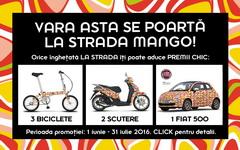 Castiga o masina Fiat 500, 2 scutere Piaggio Liberty si 3 biciclete  pliabile Romet