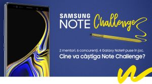 Câștigă 2 smartphone-uri Samsung Galaxy Note9