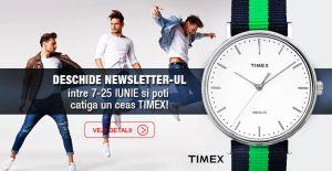 Câștigă un ceas Timex