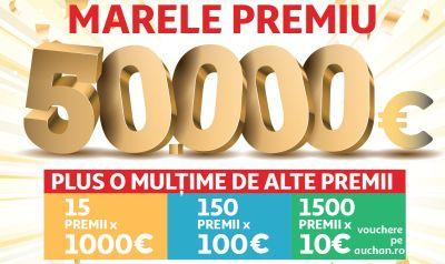 Câștigă 50.000 de euro la aniversarea Auchan
