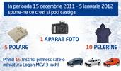 Castiga un aparat foto si alte 30 de premii oferite de Dacia