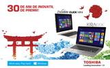 Castiga 30 de laptopuri Toshiba