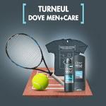 Castiga 4 rachete de tenis, 20 de seturi Dove Men+Care Clear Comfort si 20 de tricouri