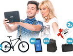 Castiga 2 vacante city-break,  8 tablete Utok iQ700, 3 biciclete Giant, 20 rucsacuri Samsonite si 12 paturi picnic