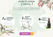 Castiga 5 blendere Breville Active Pro, o bicicleta Pegas Strada Mini si un an de cumparaturi pe Vegis