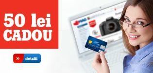 Plătește cu Visa și primești înapoi 50 de lei pe card