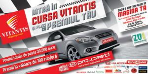 Castiga un autoturism Kia Pro Ceed, vouchere de cumparaturi si premii de consolare
