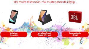 Câștigă un smartphone Vodafone Smart N8, o tabletă Vodafone Smart Tab N8 10.1 și o boxă portabilă JBL GO