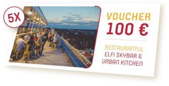 Câștigă 5 vouchere a câte 100 de euro la restaurantul Elfi Skybar & Urban Kitchen