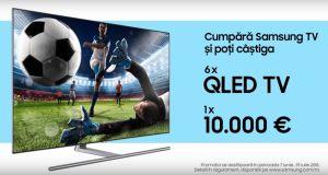 Câștigă 10.000 de euro sau 6 televizoare Samsung QLED